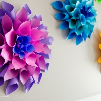 Óriás papírvirágok készítése 1.
