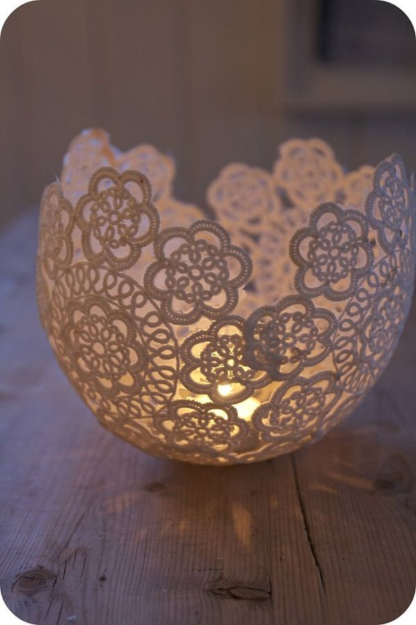 Doily-Candle-Holders