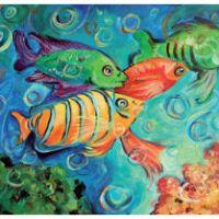 Trópusi halak - festés akrilfestékkel lépésről-lépésre - kezdőknek
