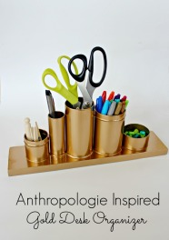 Anthropologie-Knock-Off-Gold-Desk-Organizer