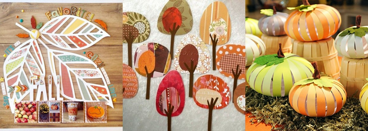 Őszi dekoráció papírokból