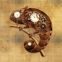 24057800-steampunk-chameleon-vintage-stílusú