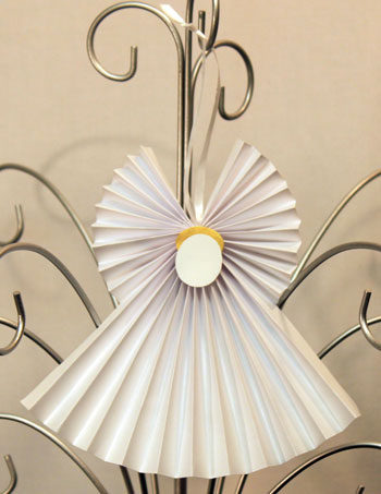 Accordian-Folded-Paper-Angel-finished-white