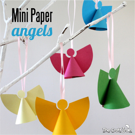 angyalok színes papírokból 4