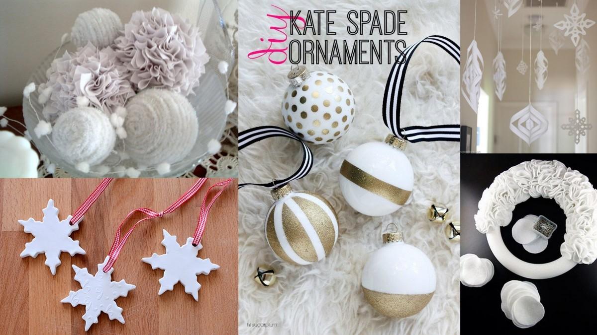Fehér karácsonyi dekoráció készítése