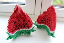 3d_origami___watermelons_by_captaintwilight-d5mtdgr