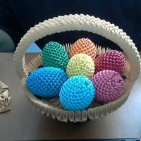 Húsvéti tojások - 3D origami technikával