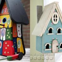 Kerti madárházak készítése, festése