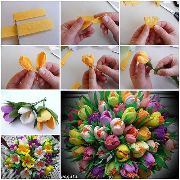DIY-Beautiful-Bouquet-of-Crepe-Paper-Crocuses-3